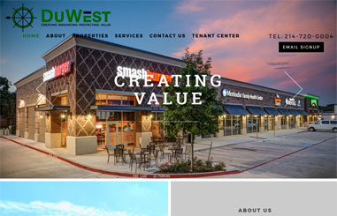 DuWest Realty web design