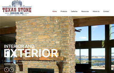 Texas Stone web design